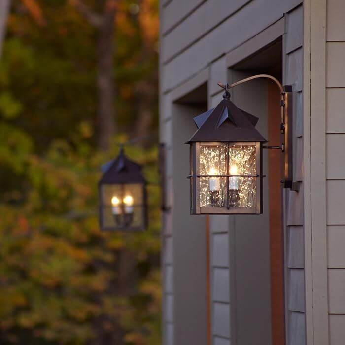 Stonehaven Lantern™ 12 in. Rustic Exterior Wall Light