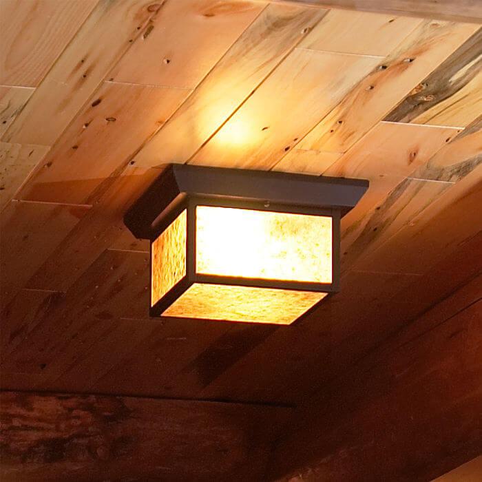 Lantern 10 wide semi flush exterior ceiling light brass light wide semi flush exterior ceiling light aloadofball Choice Image