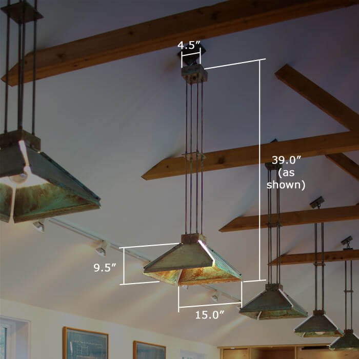 Winter Park Lantern™ 15 in. Wide Multi-Stem Pendant