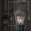 French Country Lantern™ 11 in. Wide Scrolled Drop Exterior Lantern