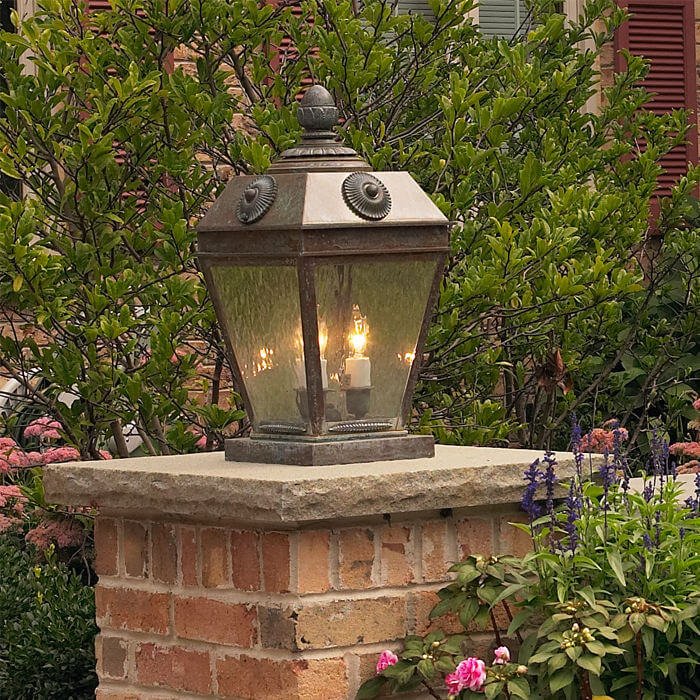 French Country™ Lantern 11 in. Wide Exterior Pier Light