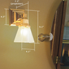 Oak Park™ One Light Straight Arm Craftsman Style Conference Room Wall Sconce