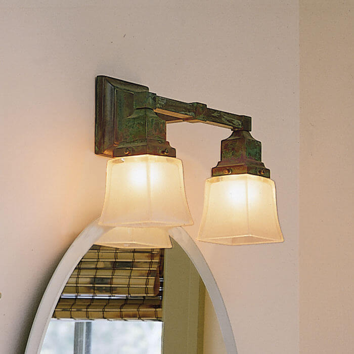 Oak Park™ Two Light Straight Arm Sconce with 2-1/4 in. shade holders
