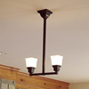 Oak Park™ Two Light Craftsman Style Pendant Light