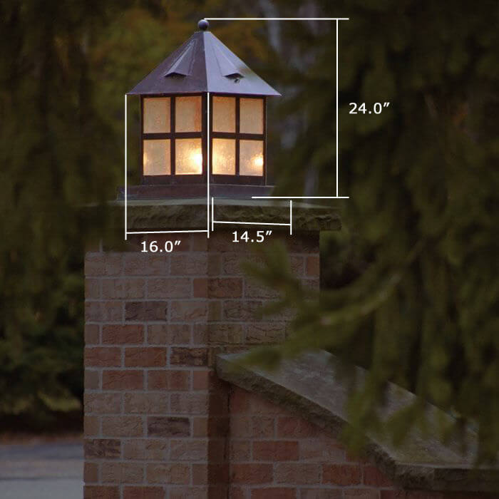 Cottage™ Lantern 16 in. Wide Exterior Pier Light