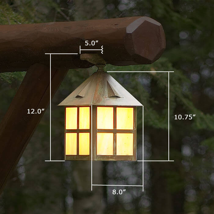 Cottage™ Lantern 8 in. Wide Semi Flush Exterior Ceiling Light