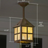 Cottage Lantern™ 10 in. T-Bar Overlay Pendant Light