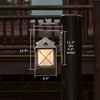 Stonehaven™ Lantern 8 in. Rustic Patio Wall Light