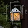 Stonehaven™ Lantern 8 in. Outdoor Lantern
