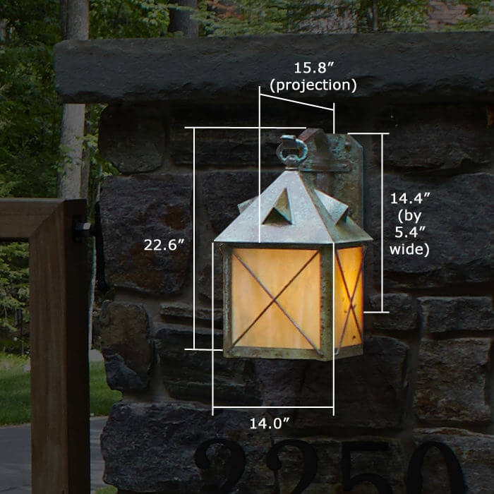 Stonehaven™ Lantern 14 in. Rustic Exterior Wall Light