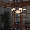 Tuscany with Band™ Alabaster Ceiling Chandelier