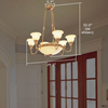 Tuscany with Band™ Alabaster Chandelier Light