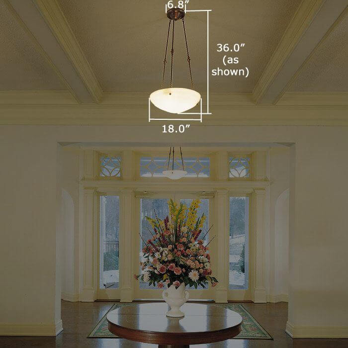Hampton™ 18 in. Diam Multi-Stem Alabaster Pendant