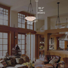 Hampton™ 24 in. Transitional Alabaster Pendant