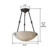 Empire™ 19 in. Alabaster Pendant Light