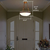Tuscany with Band™ 19 in. Traditional Alabaster Pendant