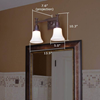 Morris™ Two Light Straight Arm Bedroom Wall Sconce