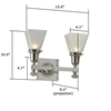Morris™ Two Light Straight Arm Hotel Hallway Wall Sconce