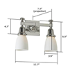 Morris™ Two Light Straight Arm Lobby Wall Sconce