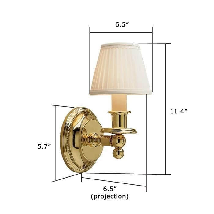 Carlton™ One Light Straight Arm Sconce with electric candle