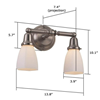 Carlton™ Two Arm Sconce
