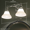 Carlton™ Double Arm Sconce
