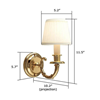 Carlton™ One Light Curved Arm Hallway Wall Sconce