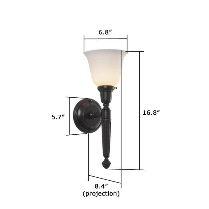 Carlton™ One Light Torch Sconce with 2-1/4 in. shade holder