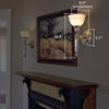 Carlton™ One Light Torch Hotel Hallway Wall Sconce