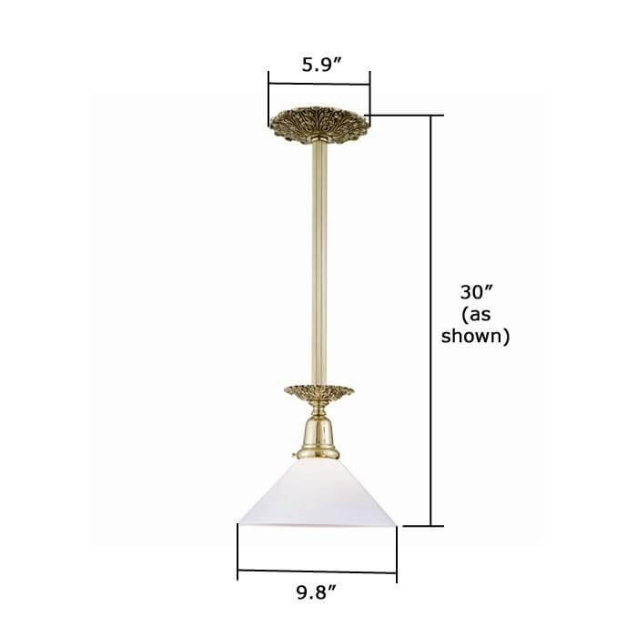 Provence™ One Light Pendant with 2-1/4 in. shade holder