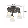 Galena Three Light Flush Hotel Hallway Ceiling Fixture with 2-1/4 in. shade holders