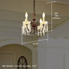 Provence™ Four Light Petite Bedroom Chandelier with electric candles and crystal