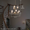 Provence™ Nine Light Two Tier Dining Room Chandelier with electric candles