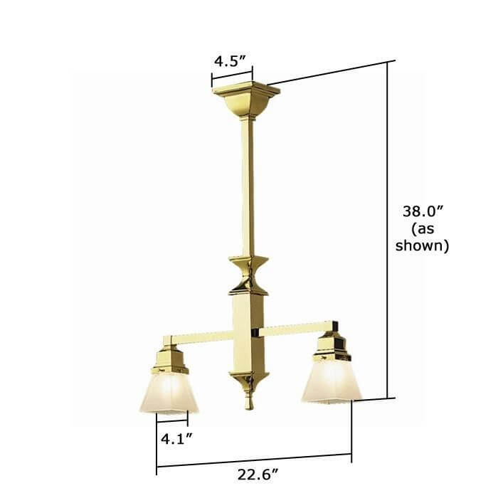 Hartford™ Two Light Pendant with 2-1/4 in. shade holders down