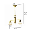 Hartford™ Craftsman Style two light pendant fixture
