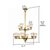 Golden Gate™ Two Tier Modern Luxury Chandelier