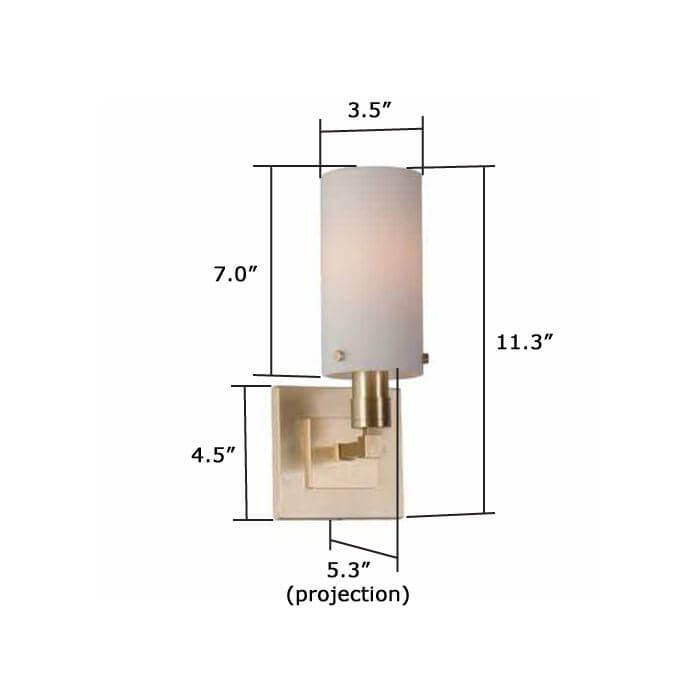 Tribeca™ One Light Straight Arm Sconce with shade holder