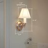 One Light Floral Center Plate Sconce