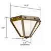 Wheaton Lantern™ 14 in. Conference Room Wall Sconce