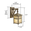 Craftsman Lantern™ Exterior Wall Sconce - One Light
