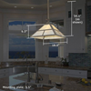 Mission Lantern™ 18 in. Outdoor Pendant Light