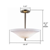 Navarra™ 16 in. Alabaster Pendant Light