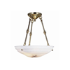 Hampton™ 18 in. Polished Brass Smooth Fittings Alabaster Pendant