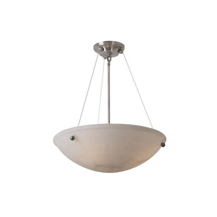 Empire™ 19 in. Diam Cable-Hung Alabaster Pendant