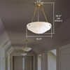 Palladian™ 16 in. Metal Finish Alabaster Pendant