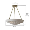 Palladian™ 24 in. Dining Room Alabaster Pendant