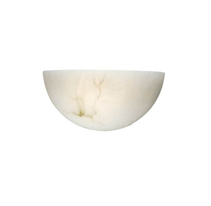 Empire™ 12 in. Wide Alabaster Wall Sconce