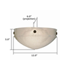 Tuscany Sconce™ 12 in. Foyer Wall Sconce