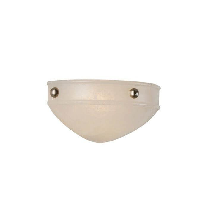 Tuscany Sconce™ 12 in. Wide Morris Ball Finials Alabaster Wall Sconce