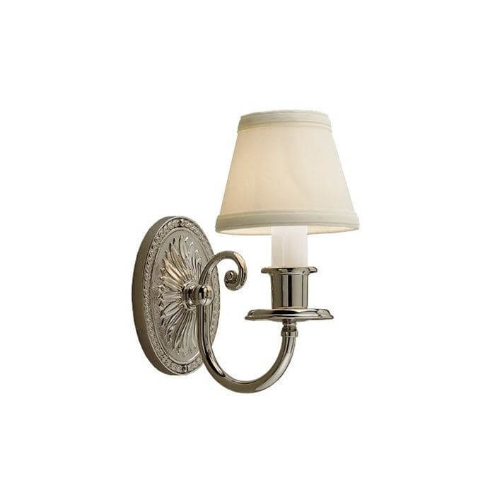 Provence™ One Light Curved Arm Sconce with electric candle